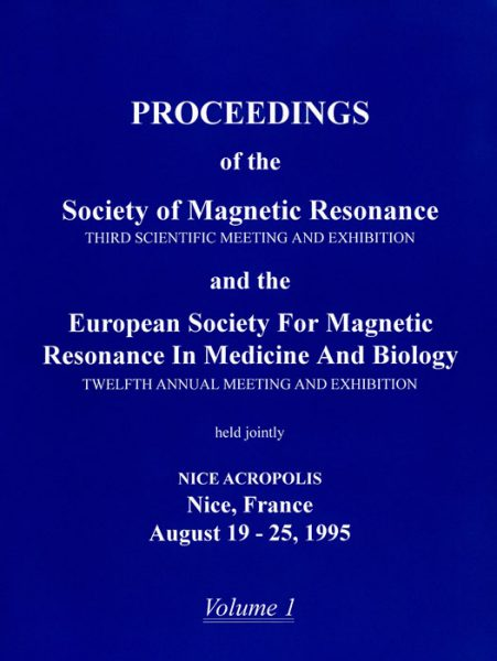 Figure: Cover of Volume 1 of the 1995 Proceedings of the SMR Annual Meeting